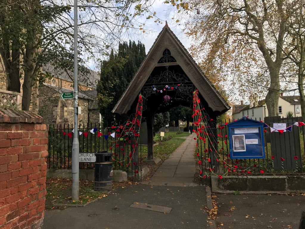 Remembrance – Poppies on the Church Railings